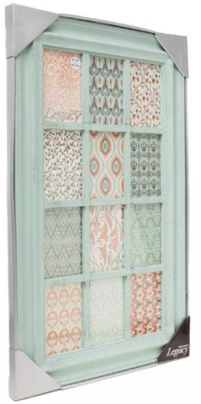 12-4x6 Green Distressed 12 Opening Collage Frame - Athena Posters