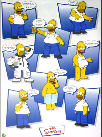 Homer Simpson- collage