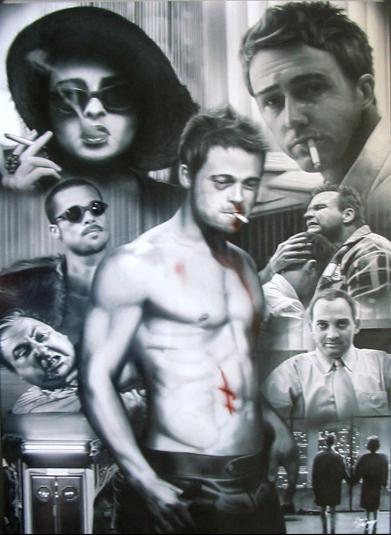 Fight Club- B&W Collage