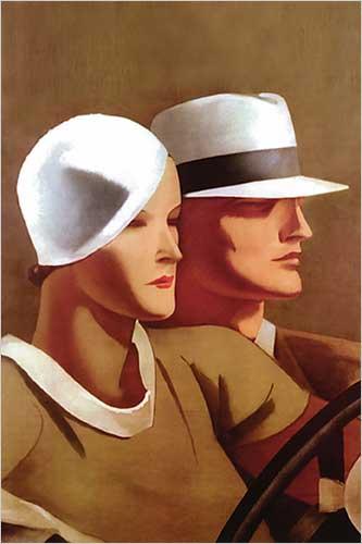 Couple Driving-Dudovich Marcello