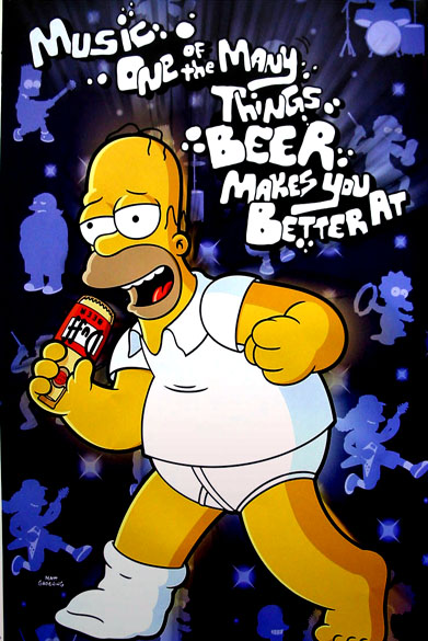Simpsons-Beer makes you better
