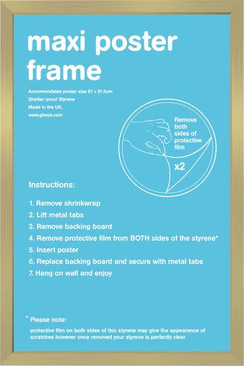 """Poster Frame (Gold) 24""""x36"""""""