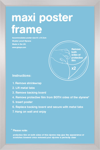 "Poster Frame (Silver) 24""x36"""