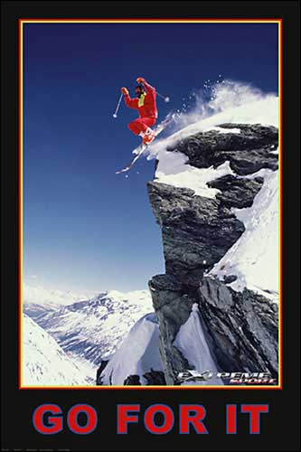 Go For It (Extreme Sport) Skiier