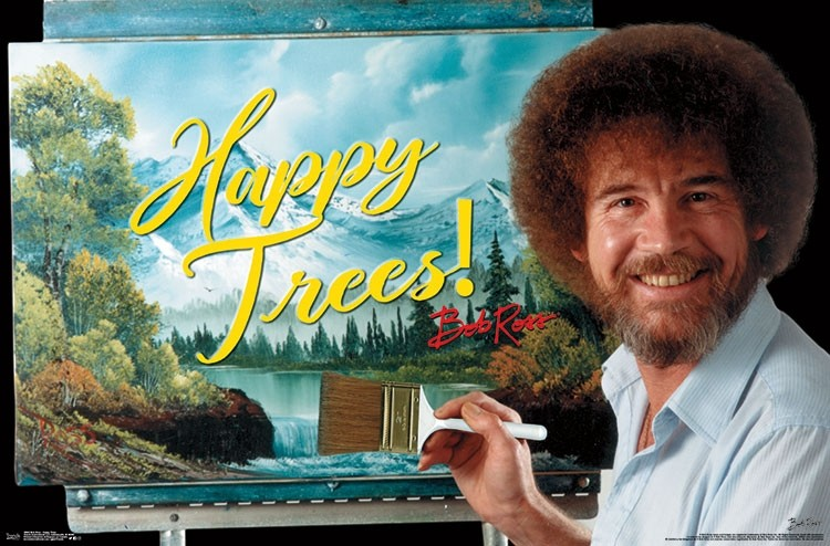 Bob Ross- Happy Trees - Athena Posters